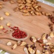 Nuts and pink peppercorn — Stock Photo #70435833