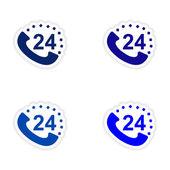 Församlingen realistiska klistermärke design på papper heta linjen — Stockvektor