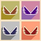 Assemblée élégante ailes d'aigles — Vecteur
