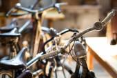 Vintage bicycle handlebars — Stock Photo