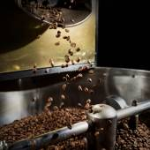 Freshly roasted coffee beans — Stock Photo