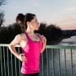 Young woman jogging — Stock Photo #70561745
