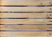 Frozen wooden oak lath board background horizontal — Stock Photo