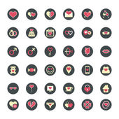 Love Flat Icons for Valentine Day — Stock Vector