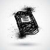 Grunge Notebook Symbol — Stock vektor
