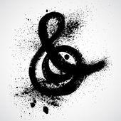Grunge ampersand alphabet symbol design — Stock Vector