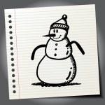 Cartoon Snowman with hat. — Stock Vector #70502537