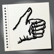 Scribble thumb up — Stock Vector #70503917