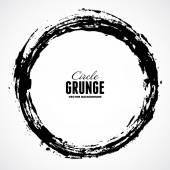 Ink grunge circle frame — Stock Vector