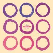 Гранж круг Фоторамки — Cтоковый вектор