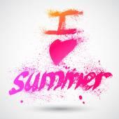 Grungy summer sign — Vetor de Stock