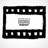Ilustração de um frame da película de filme grunge — Vetor de Stock
