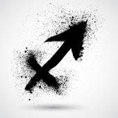 Grunge zodiac icon — Stock Vector