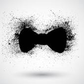 Black bow tie icon — Stockvektor