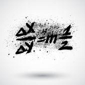 Grunge 数学公式图标 — 图库矢量图片