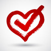 Red grunge heart — Stock Vector