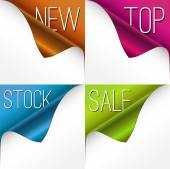 Set of four sale corners — Stock Vector