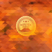 Hipster background made of triangles — Vecteur