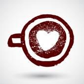 Love coffee icon — Stock Vector