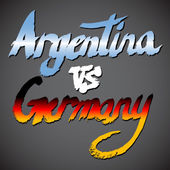 Argentina VS Germany football concept — Stock Vector