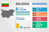 Bulgaria infographics, statistical data, Bulgaria information, vector illustration — Stock Vector