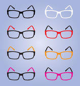 Eyes glasses, colorful eyes glasses, eyes glasses vector — Stock Vector