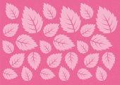 Pink stylized leaf pattern. Vector illustration — Stock Vector