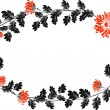 Frame with red flowers in the shape of an wreath — Stock Vector #71782785