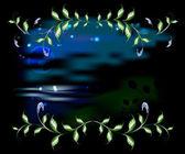 景观带叶的框架中。eps10 矢量图 — 图库矢量图片