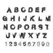 Illustration with grunge alphabet — Vettoriale Stock