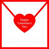 Illustration with valentines letter and heart — Vettoriale Stock