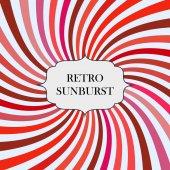 Illustration with retro sunburst background — Stock Vector