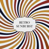 Illustration med retro sunburst bakgrund — Stockvektor