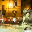 Fountain on Piazza della Rotonda near with Pantheon.Night View. — Stock Photo #70645411