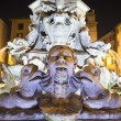 Fountain on Piazza della Rotonda near with Pantheon.Night View 2 — Stock Photo #70645421