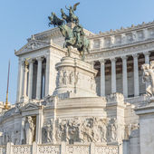 The Altar Of The Fatherland. Also known as the National Monument to Victor Emmanuel II . II Vittoriano. Fragment 2. — Stock Photo