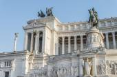 The Altar Of The Fatherland. Also known as the National Monument to Victor Emmanuel II . II Vittoriano. Fragment 4. — Stock Photo