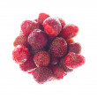 Handful of ripe strawberries isolated on white background — Stock Photo #75588359