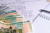 Análise de bolsa de valores horários de negociação — Fotografia Stock