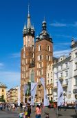 Market square in Cracow, Poland. — Foto Stock