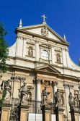 Église des apôtres Saint Pierre et Paul dans la vieille ville de Cracovie, Pologne. — Photo