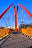 Footbridge across the road — Stock Photo