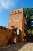 The Leaning Tower (Krzywa Wieza) in Torun, Poland. — Stock Photo