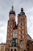 Main market squere in Krakow, Poland. — Stock Photo