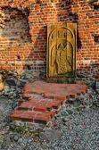 Ruin castle in Torun, Poland. — Stock Photo