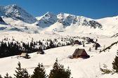 Winter landscape in mountains. — Foto de Stock