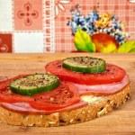 ������, ������: Sandwich on a cutting board