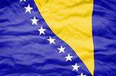Flagge von Bosnien und Herzegowina. — Stockfoto