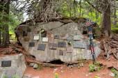 Die symbolischen Friedhof unter Ostrva in der Hohen Tatra, Slowakei. — Stockfoto