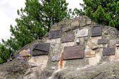 Cementerio simbólico bajo islas en montañas de Tatra, Eslovaquia. — Foto de Stock